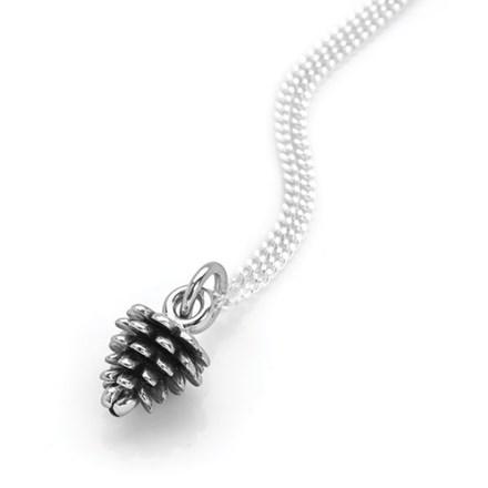 Silver Pine Cone Pendant