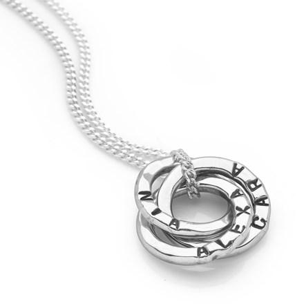 Personalised Mini Russian Rings Pendant