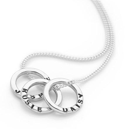 Personalised Mini Ring Pendant