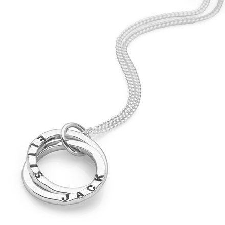 Personalised Intertwined Names Pendant