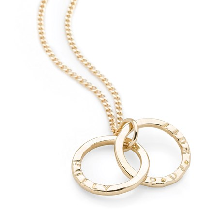 Personalised Intertwined Pendant (Gold Plate)