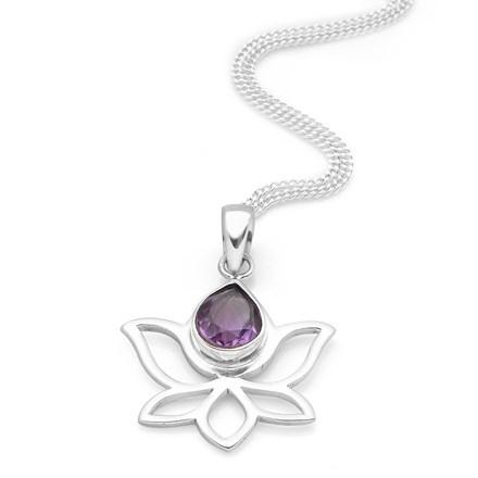 Purple Lotus Pendant