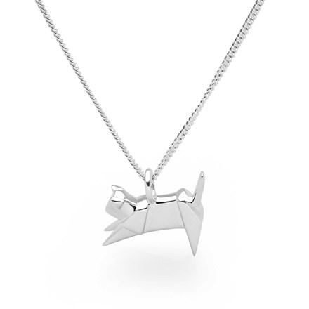 Origami Kitten Pendant