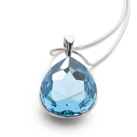 Crystal Tears Pendant (Sky Blue)