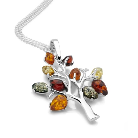 Amber Tree Pendant