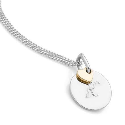 With Love Initial Pendant