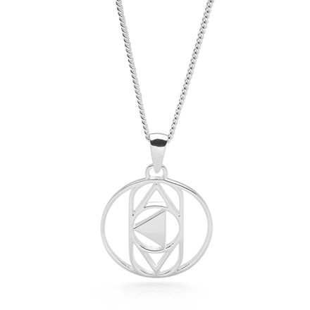 Silver Third Eye Chakra Pendant