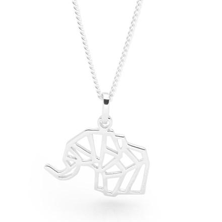 Elephant Origami Pendant