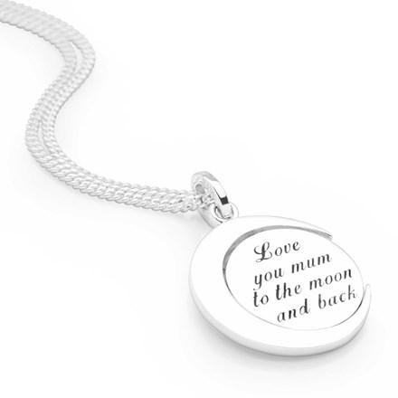 'Love You Mum' Spinning Pendant