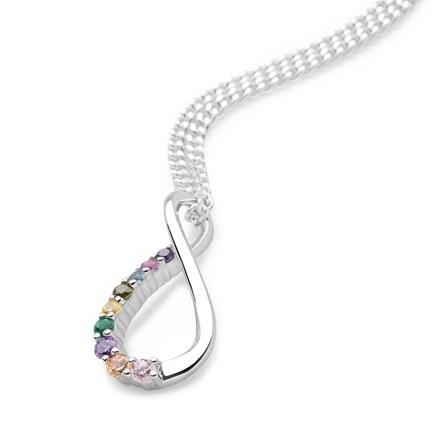 Infinity Rainbow Pendant