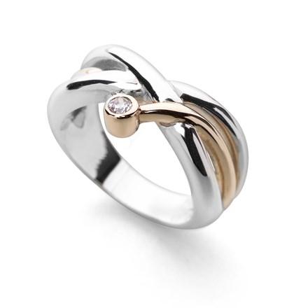 Zirconia Knot Ring