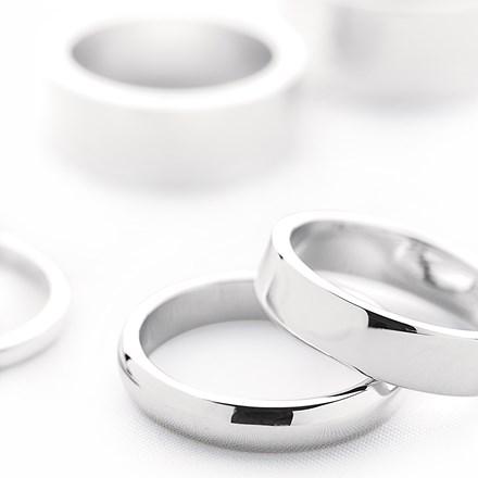 Flat Silver Band Ring