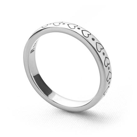 Metro Stack Ring (Hearts)