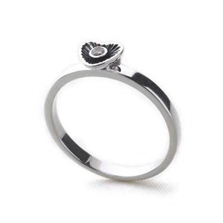 Metro Stack Ring (CZ Heart)