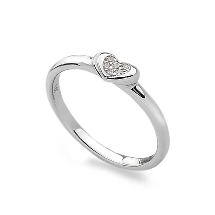 Sparkling Heart Stack Ring