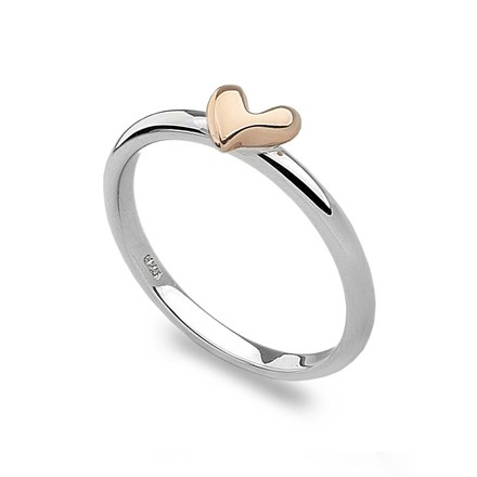 Rose Gold Heart Stack Ring