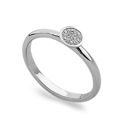 Sparkling Round Stack Ring