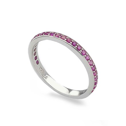 Pink Eternity Stack Ring
