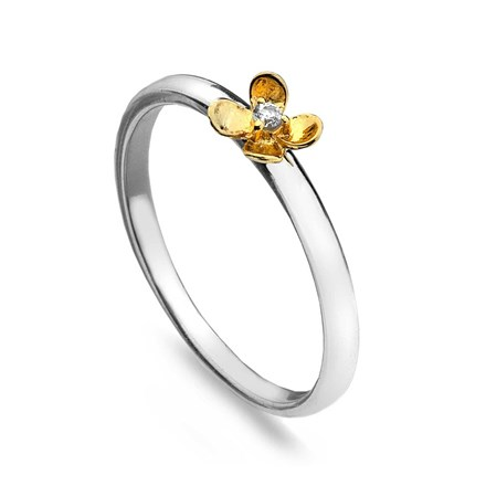 Sparkling Gold Stack Ring