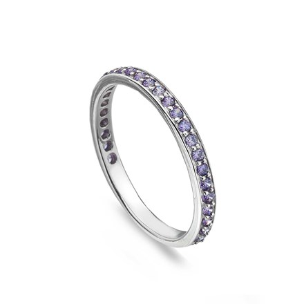 Lilac Eternity Stack Ring