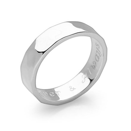 Hidden Message Ring (Hammered)