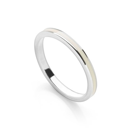 Cream Stack Ring