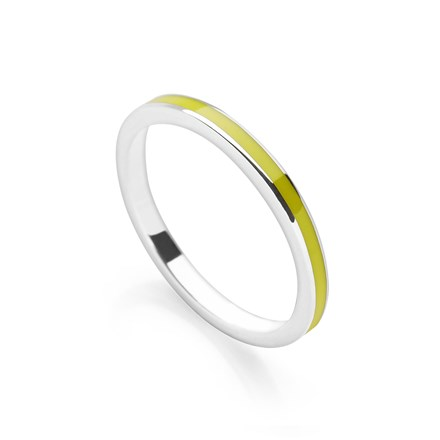 Lime Green Stack Ring