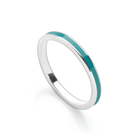 Petrol Blue Stack Ring