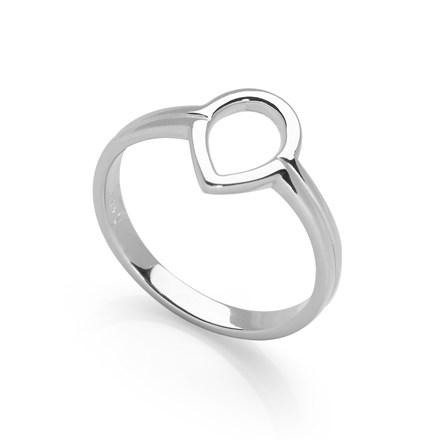 Silver Drop Ring