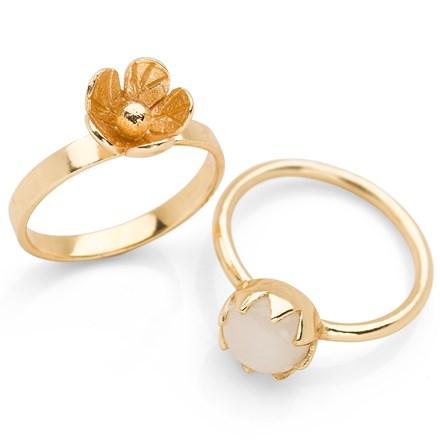 Kerala Ring (Set of 2) Gold Plate