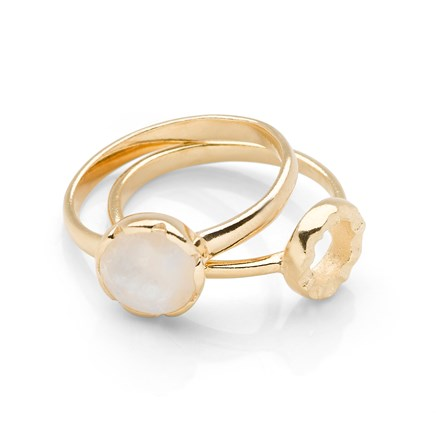 Havana Rings (Set of 2) Gold Plated