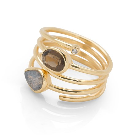 Sunset Glow Ring (Gold Plate)