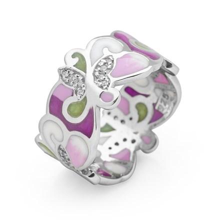 Lilac Field Ring (Rhodium)