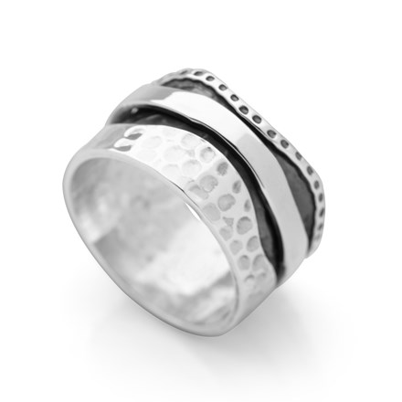 Silver Wave Spin Ring