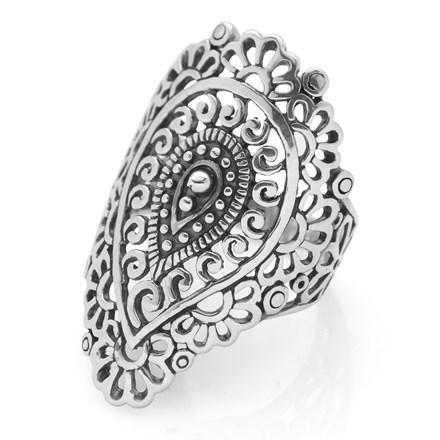 Silver Paisley Ring