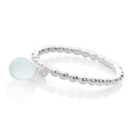 Aqua Dew Drop Ring