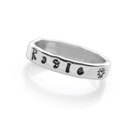 Personalised Script Ring