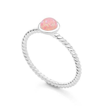 Pink Opal Dot Ring