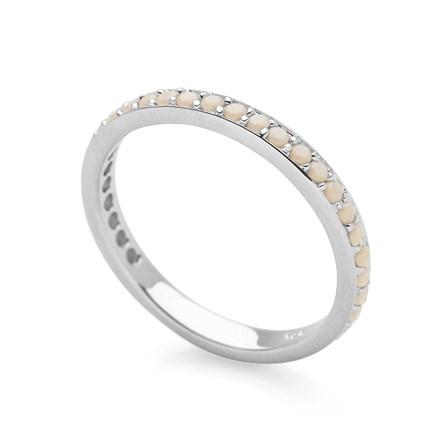 Cream Eternity Stack Ring
