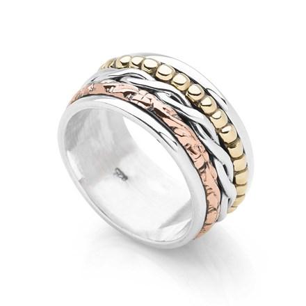 Desert Rose Spin Ring