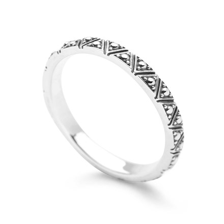 Triangles Stack Ring