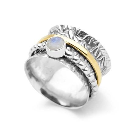 Moonstone Spin Ring