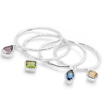 Jewel Drops Ring (Set of 4)