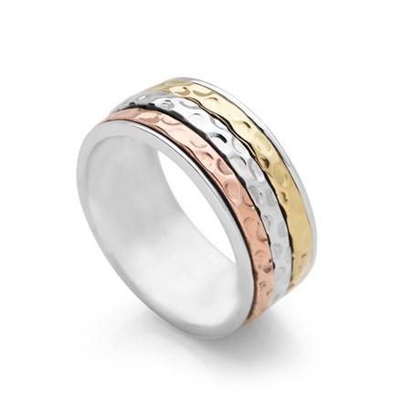 Hammered Divine Spin Ring