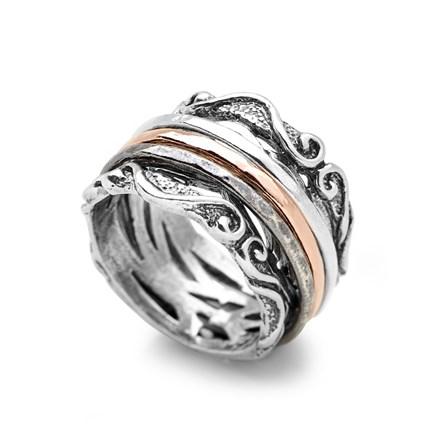 Evening Rose Spin Ring