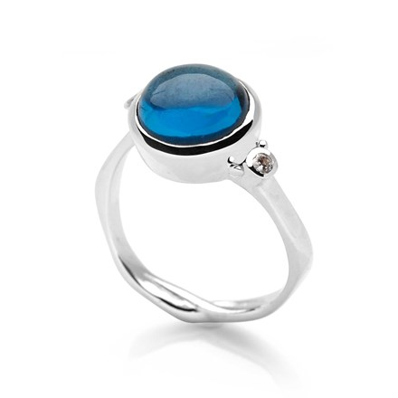 Stormy Blue Ring