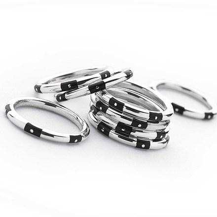 Ebony Stack Ring