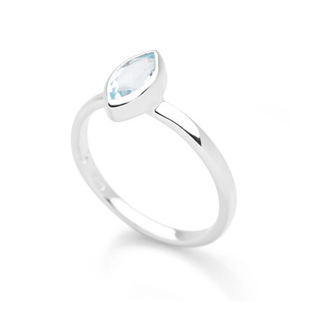 Sixth Sense Ring Blue Topaz