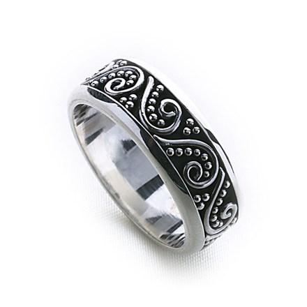 Bali Stack Ring (Thick)