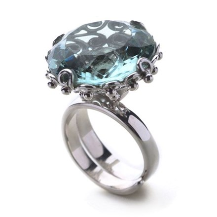 Eastern Essence Ring (Blue Obsidian)